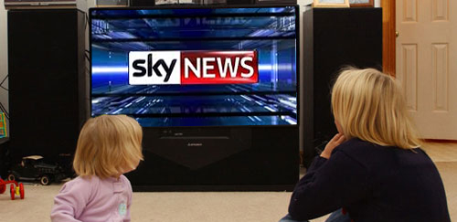 Kids Watching Sky News